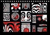 Black, white, red/UK-Version (Table Calendar 2018 DIN A5 Landscape): Design in black, white, red (Monthly calendar, 14 pages ) (Calvendo Art) [Kalender] [Apr 01, 2017] Burlager, Claudia
