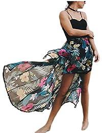 YACUN Donne Con Il Cinturino Spiaggia Lungo Vestito Maxi Cami Cocktail Party ab757250d3b