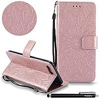 Handyhülle iPhone 7 Plus,HUDDU Sonnenblume Embossed Rosegold Schutzhülle iPhone 7 Plus Hülle Flip Leder Tasche... preisvergleich bei billige-tabletten.eu