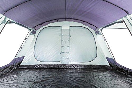 CampFeuer - 6 Personen Familienzelt, riesiger Vorraum, 5000 mm Wassersäule, Campingzelt, (+ 6 weitere Personen im Vorraum möglich) - 6