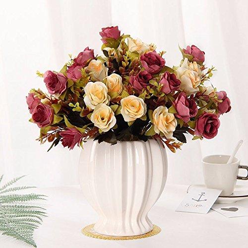 Emulation Blumen rose Seide blumentisch Blumen getrocknete Blumen Dekoration im Wohnzimmer Home Dekoration Pflanzen sway in 87