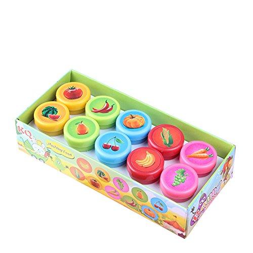 Lanlan Cute Self Inking Gemüse und Obst Stempel Spielzeug für Scrapbooking Dekor Kinder Geschenk...