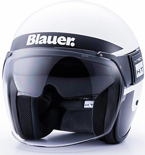 Blauer HT CASCO POD STRIPES WHITE-BLACK-TITANIUM GLOSSY L