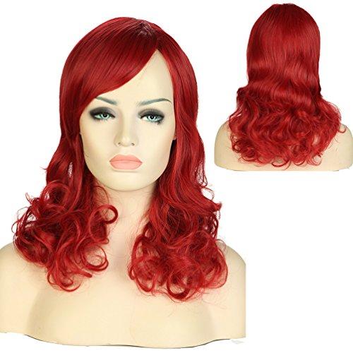 S-noilite® Nouvelle Perruque Femme - Rouge foncé