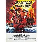 LES LOUPS DE HAUTE MER Affiche de film - 40x60 cm. - 1980 - Roger Moore, Andrew V....