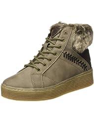 Para mujer botines fourrée zapatillas de deporte para mujer, piel CAMEL caliente boots DSD-1, Marrón (marrón (camel)), 37