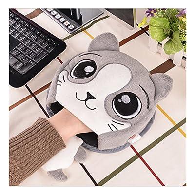 Distinct® Lindo USB climatizada alfombrilla de ratón caliente del invierno alfombrilla de ratón con Guardamuñecas (Gris)