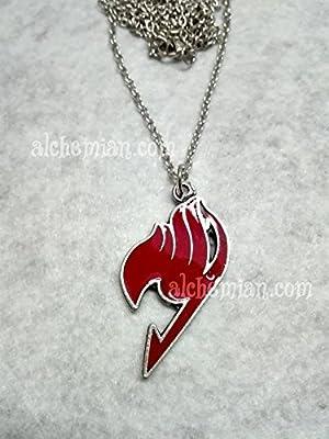 Fairy Tail, collier avec symbole rouge