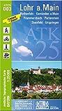 ATK25-D03 Lohr a.Main (Amtliche Topographische Karte 1:25000): Rothenfels, Gemünden a.Main, Frammersbach, Partenstein, Steinfeld, Urspringen (ATK25 Amtliche Topographische Karte 1:25000 Bayern)
