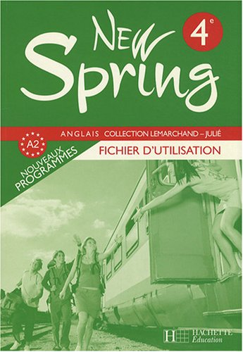 Anglais 4e New Spring : Fichier d'utilisation