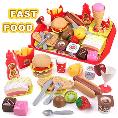 GILOBABY Küchenspielzeug und Essen Spielen Set für