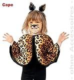 FASCHING 10057 Kinder-Kostüm Cape Leo Katze Tiger Umhang NEU/OVP: Größe: 098