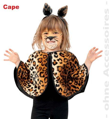 Katze Tiger Kostüm - FASCHING 10057 Kinder-Kostüm Cape Leo