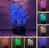 Lampe D'Illusion Pokemon Go Action Figure7 Couleur Night Light Usb Table Lampara Décor Enfant Enfants Bébé DormirThanksgiving Cadeaux, A