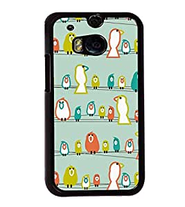 Sitting Birds 2D Hard Polycarbonate Designer Back Case Cover for HTC One M8 :: HTC M8 :: HTC One M8 Eye :: HTC One M8 Dual Sim :: HTC One M8s