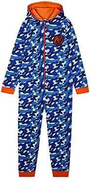 Nerf Pijama Niño de Una Pieza, Pijama Entero de Camuflaje, Pijamas Niños de Algodon con Capucha, Regalos para