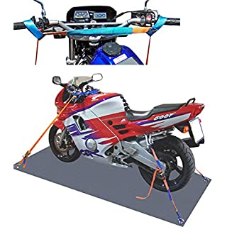 SHZ Spanngurt Motorrad Motorradsicherung komplett (vorn+hinten)/ Motorrad Zurrsystem Motorradspanngurt Motorradtransport