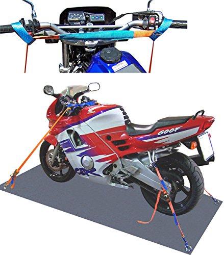 Motorradsicherung komplett (vorn+hinten)/ Motorrad Zurrsystem Motorradspanngurt