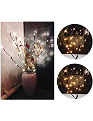 Sagirl LED Willow Branch Lampe Floral Lights 20 Glühbirnen Home Christmas Party Garden Decor