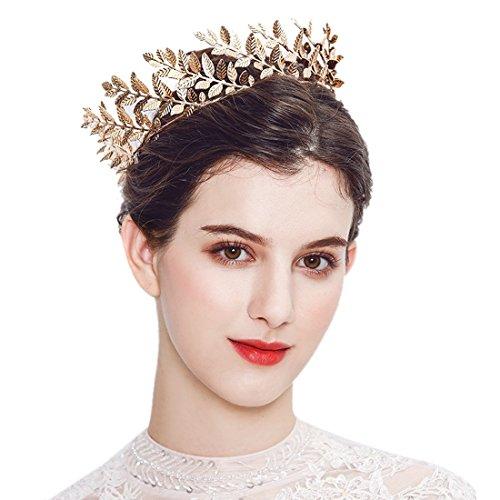 Zubehör Gold Leaf Branch Stirnbänder mittelalterlichen Headpiece-römischen Kostüm Krone Braut Hochzeit Stirnband (Sonne Göttin Kostüme)
