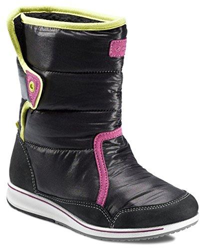 Ecco Jogga Madrone/Textile 726562 Unisex-Kinder Stiefel Schwarz (Black/Black)