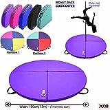 XN8Schutzmatte für Poledance oder Gymnastikball, Stoßdämpfung, 150cm Durchmesser, 5cm dick, violett