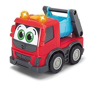 Dickie Toys 203811006Happy Volvo FMX, vehículos de construcción para niños pequeños, Volquete, Cemento batidora, Container Truck, 3Varios. Modelos, 13cm