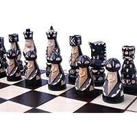 ChessEbook-Edles-Schachspiel-POP-55-x-55-cm-Holz-Handgeschnitzt