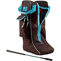 Equi-theme Bota Bolsa Chocolate Turquoise Piping