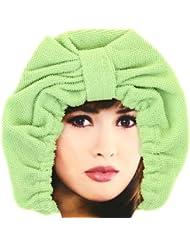 Promobo - Charlotte de Bain Luxe en tissu absorbant Bonnet Microfibre Vert