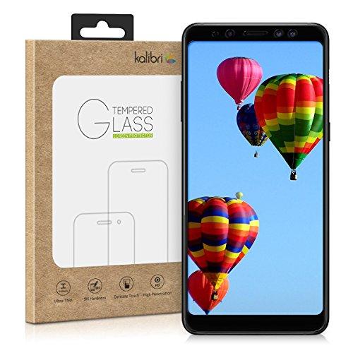 kalibri-Echtglas-Displayschutz-fr-Samsung-Galaxy-A8-2018-3D-Schutzglas-Full-Cover-Screen-Protector-mit-Rahmen-Glas-Folie-auch-fr-gewlbtes-Display-in-Schwarz