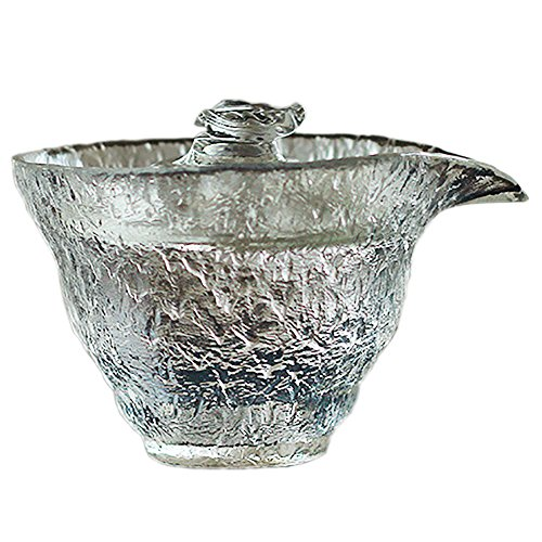 Taza de té tradicional de cristal japonés de cristal de la marca Never King de 220 ml