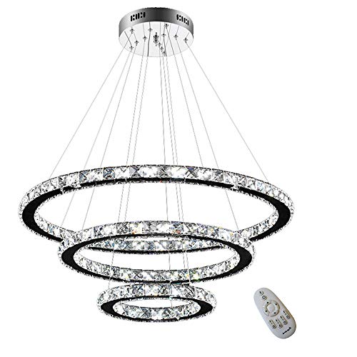 HENGMEI 72W Lámparas de araña Cristal Lámpara de Techo Lámpara Col