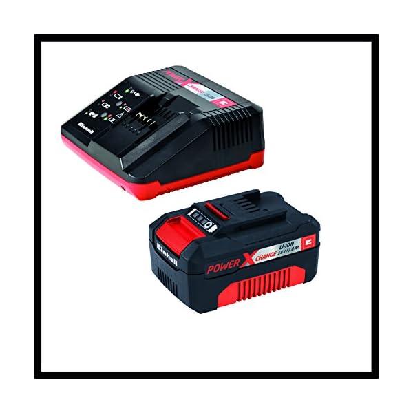 51FHR602raL. SS600  - Einhell Expert Amoladora TE-AG 18/115 Li Kit Power X-Change, Li-Ion, 18 V, incluida Batería de 3,0 Ah y Cargador Rápido (ref. 4431119)