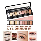 Ealine impermeabile ombretto tavolozza Eye makeup Shimmer 10 Populor Eye Colour matte & Pearl Eye Shadow set per Naked nude naturale o Stage Smokey makeup free Eye Shadow Brush immagine