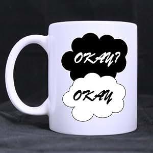 Okay? Okay polices créatifs Blanc Mug Tasse à Café Mug personnalisé créative Lait Tasse à thé 11 ml