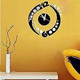 Wandtattoo fürsRaumdekoration - Wandsticker Set - Pastell Farben, Rotation Aufkleber DIY Spiegel Wanduhr Wandaufkleber Dekoration (24.5cmX24.5cm)