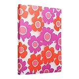 Comix A4 Porte-Vues 80 vues (40 pochettes)Motif de fleurs d'été - A526 ( Rouge )