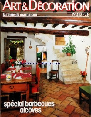 ART ET DECORATION [No 213] du 01/05/1979 - SPECIAL BARBECUES - ALCOVES
