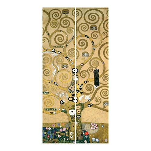 Bilderwelten Tende scorrevoli set - Gustav Klimt - The Tree Of Life - 2 Pannelli, tenda a pannello scorrevole tenda a pannello incl. sistema di supporto, Tipo di montaggio: Senza supporto, Misura (AxL): 250 x 120cm (2 pannelli da 250 x 60cm)
