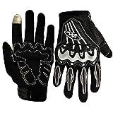 #10: Pitzo Axe Racing Full Finger Riding Gloves (Black, Medium)