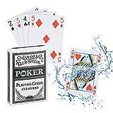 Relaxdays Cartes de Poker en Plastique imperméable pour Cartes de Jeu résistant 54 Cartes Poker Set Blanc