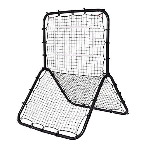 QIANGGAO Schwarzer tragbarer Baseball-Softball-Fußball-Multi-Sport-Rückkehr-Trainer werfen Pitchback-Netz-Baseball, der Netz-Trainings-Schirm schlägt -