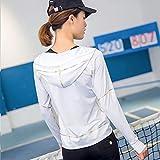 YLSlim allenamento vestiti Yoga Abbigliamento Giacche donna manica lunga cappotto con cappuccio in esecuzione tempo libero all'aperto maglione,Bianco,XL - YL-abbigliamento - amazon.it