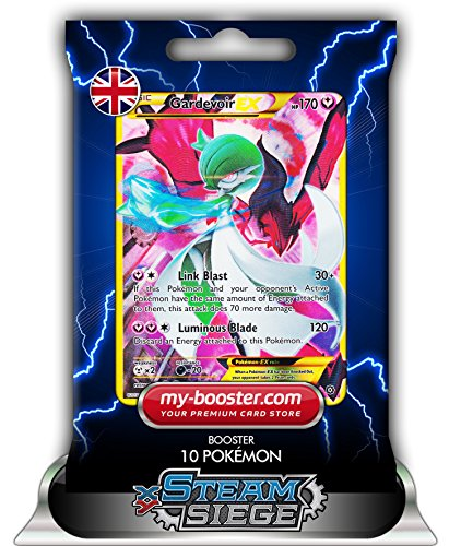 GARDEVOIR EX FULL ART shiny 116/114 170HP XY11 STEAM SIEGE - Booster de 10 cartes Pokemon anglaises my-booster