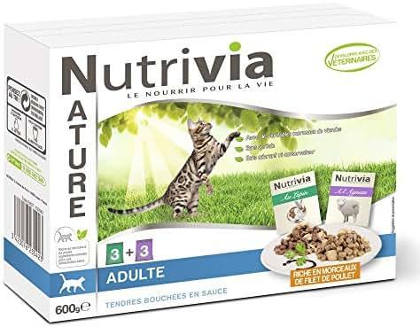 Nutrivia Nature : Nutrivia Nature Chat Adulte : Viande X6