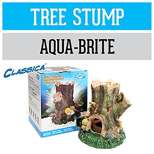 Arcadia Baumstumpf CAD28 Deko Aquarium wasserfest für Meerwasser und Süßwasser optional LED beleuchtbar