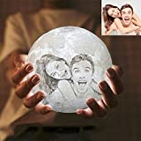 LEEFISH 3D Personalizado Lámpara De Luna, Personalizado Foto Y Texto Luna Luz De Noche, Lámpara De...