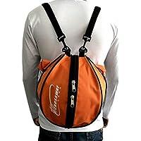 Geshiglobal - Bolso de baloncesto para deportes al aire libre, balón de fútbol, baloncesto, naranja