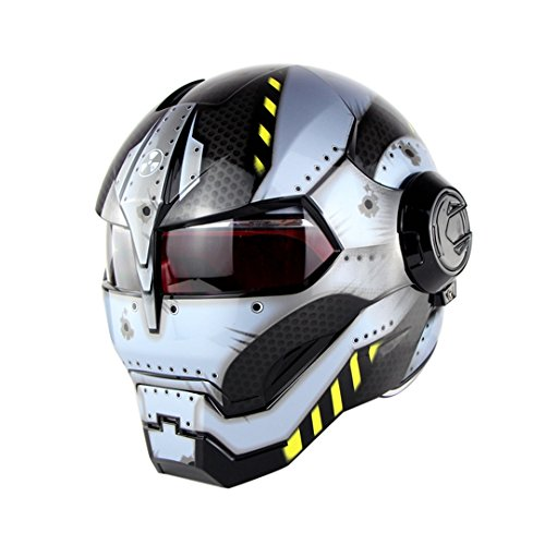 CASCOEN Casco moto cross Casco integrale motocross matte ironman L